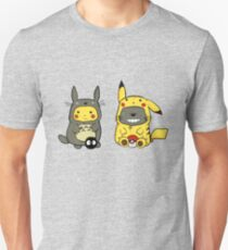 Totoro & Pickachu  Slim Fit T-Shirt