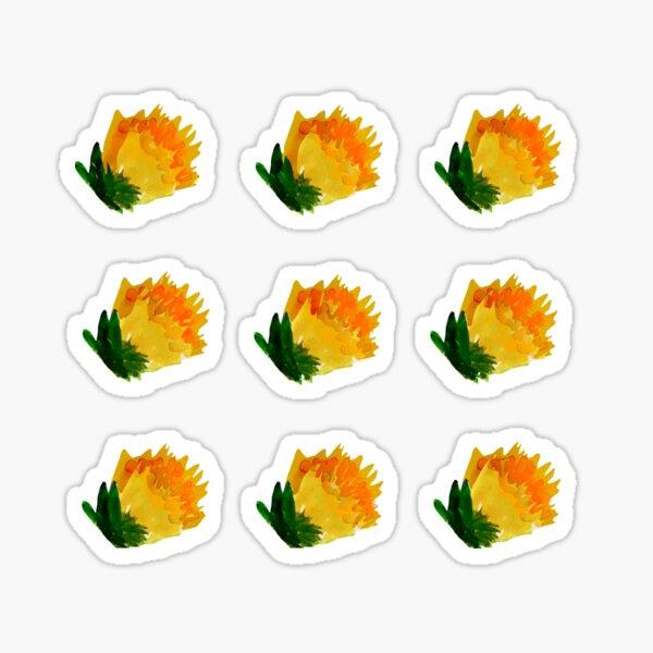 Yellow Carnations Sticker