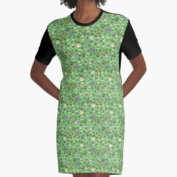Barista Accoutrements Graphic T-Shirt Dress