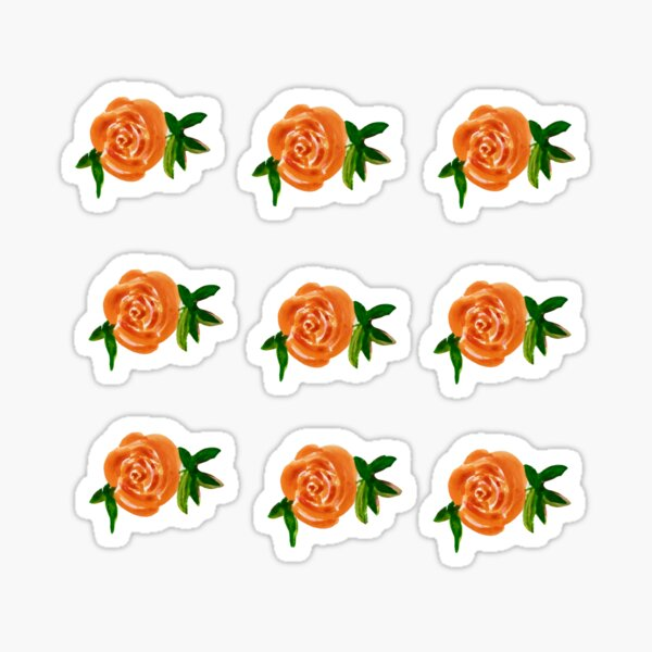 Orange Roses Sticker