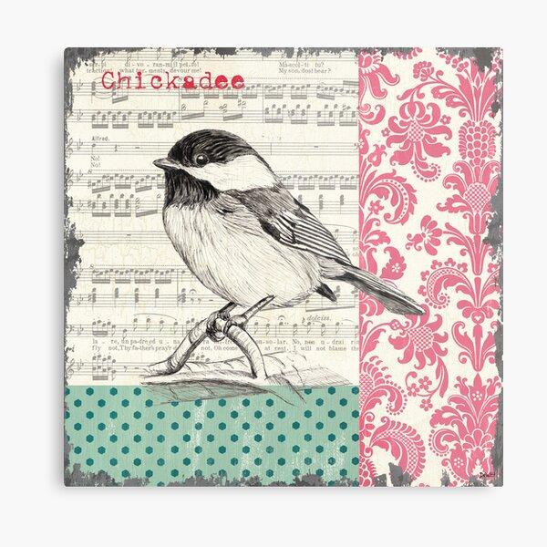 Vintage Songbird 2 Metal Print
