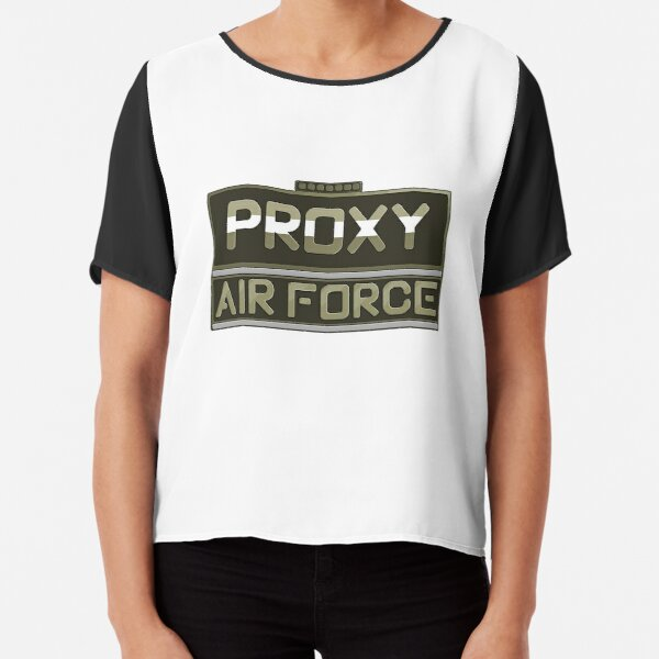Proxy Air Force Game Chiffon Top