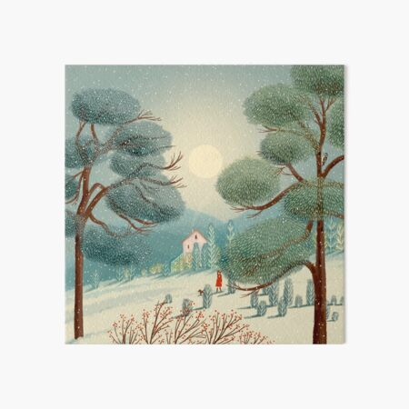 Winter Walk Art Board Print