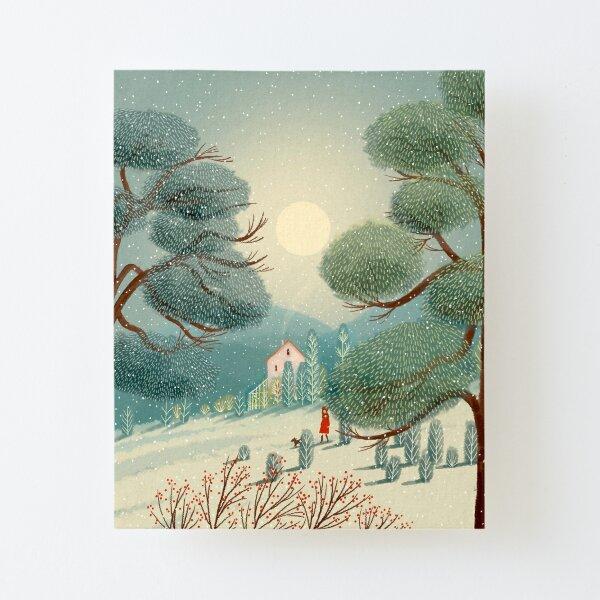Winter Walk Canvas Mounted Print