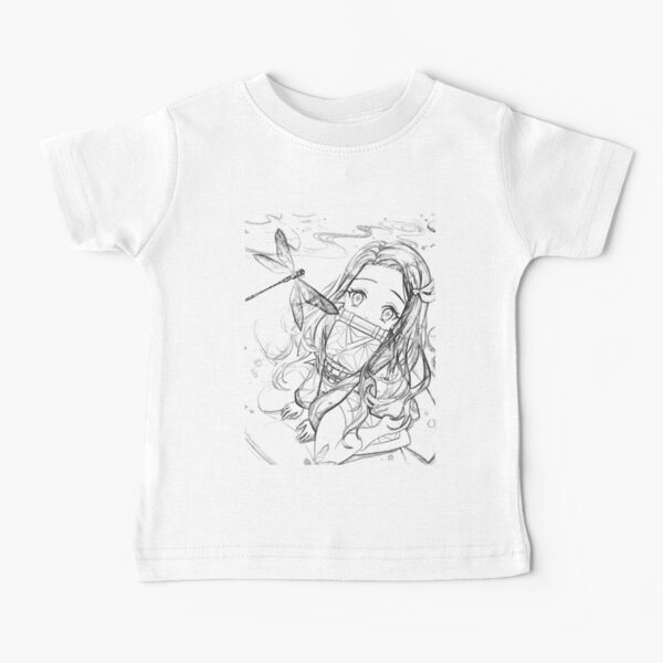 NEZUKO DE DEMON SLAYER Camiseta para bebés