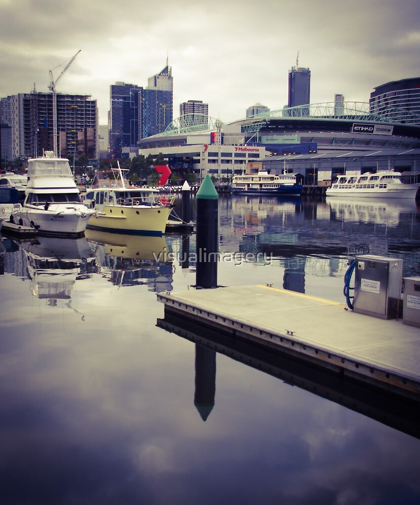 Boats at Melbourne Docklands by visualimagery