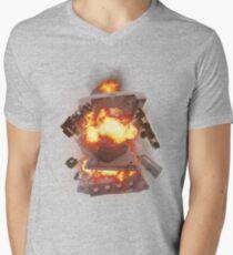 The SEGA Dreamcast Explodes Mens V-Neck T-Shirt