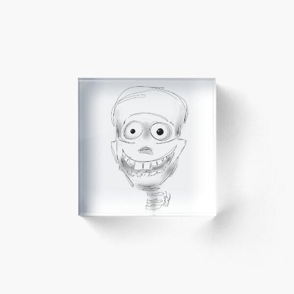 Harry Halloween Skeleton Acrylic Block