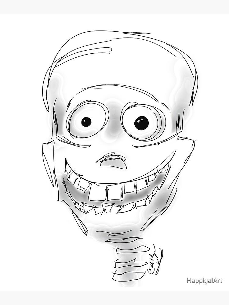 Harry Halloween Skeleton by HappigalArt