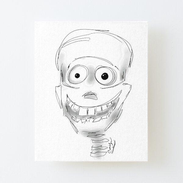 Harry Halloween Skeleton Canvas Mounted Print