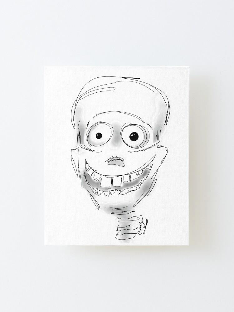 Alternate view of Harry Halloween Skeleton Mounted Print