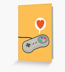 I HEART SNES Greeting Card