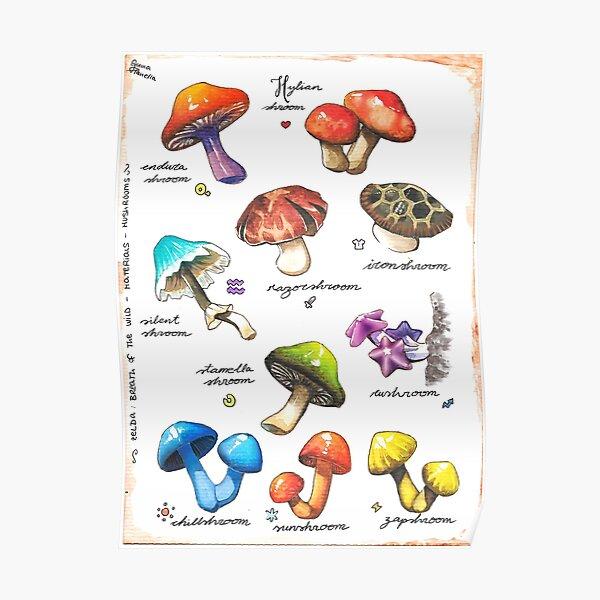 BOTW mushrooms Poster