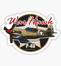 P-40 Warhawk Sticker