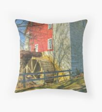 Bunker Hill Flour Mill Throw Pillow