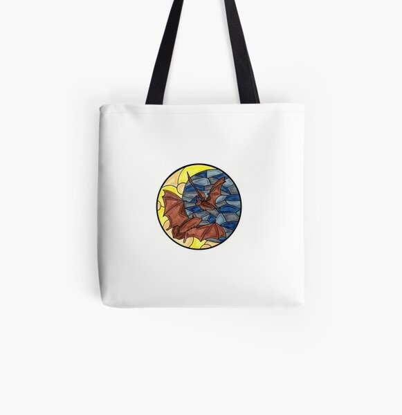 Bats in the Moonlight All Over Print Tote Bag
