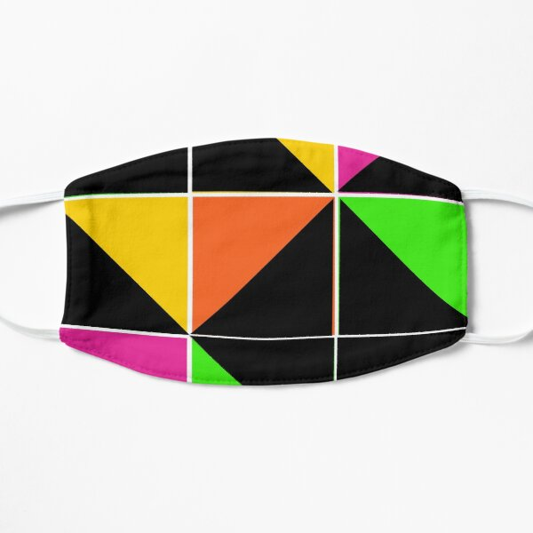 Stephen Sprouse inspired-geometric- color blocked- triangles-day glow colors Mask