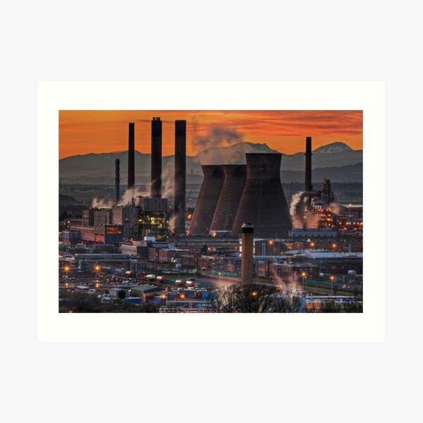Grangemouth Refinery (3) Art Print
