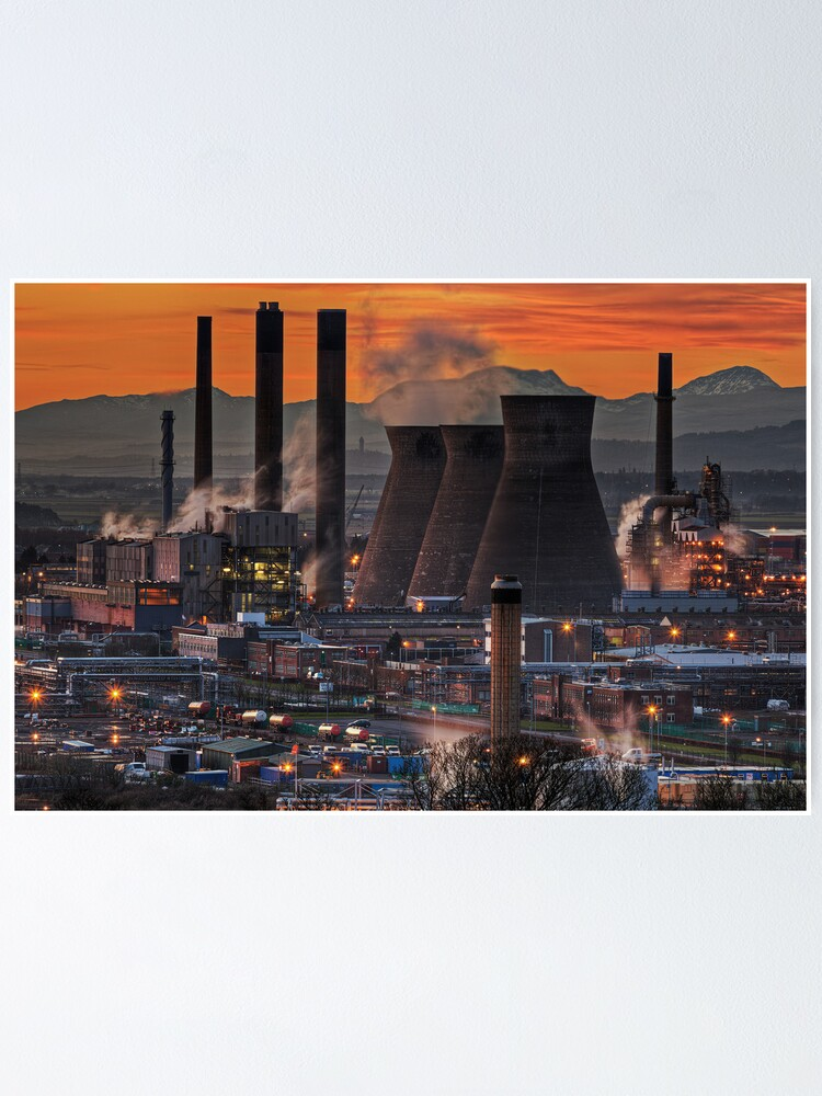 Alternate view of Grangemouth Refinery (3) Poster