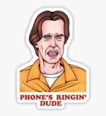 Phone's Ringin' Dude (Color) Sticker