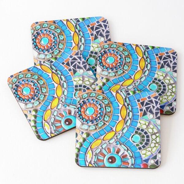 Gaudi Barselona mosaic Coasters (Set of 4)