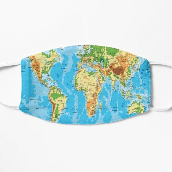 Geography World Map Vintage Art Mask