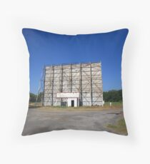 Route 66 Drive-In Movie Throw Pillow