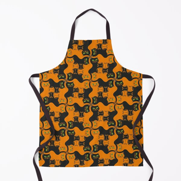 Compact Cats - Halloween Cat Tessellation Apron