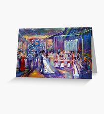 Peter and Tash Wedding Artscape Greeting Card