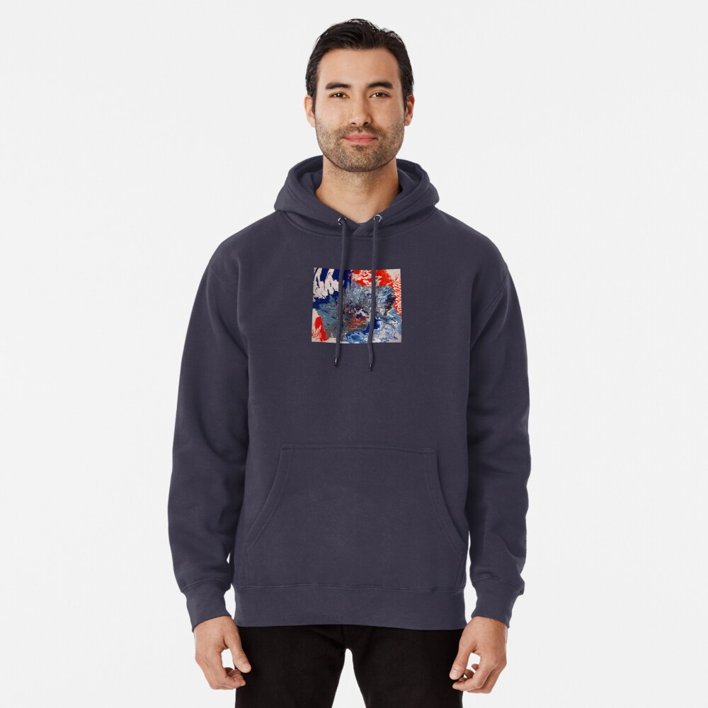 """Abstract Painting- """"British Rocker""""  Pullover Hoodie"""