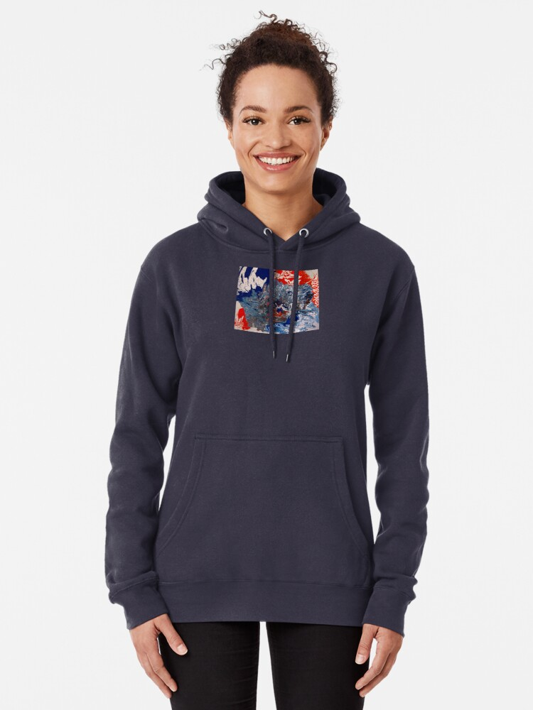 """Alternate view of  Abstract Painting- """"British Rocker""""  Pullover Hoodie"""