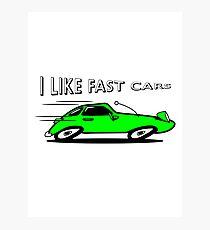 Sports car auto car vehicle fast fast Photographic Print