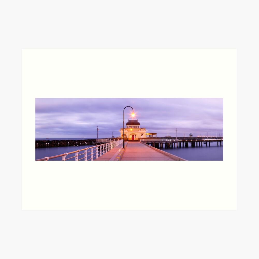 St. Kilda Pier, Melbourne, Victoria, Australia Art Print