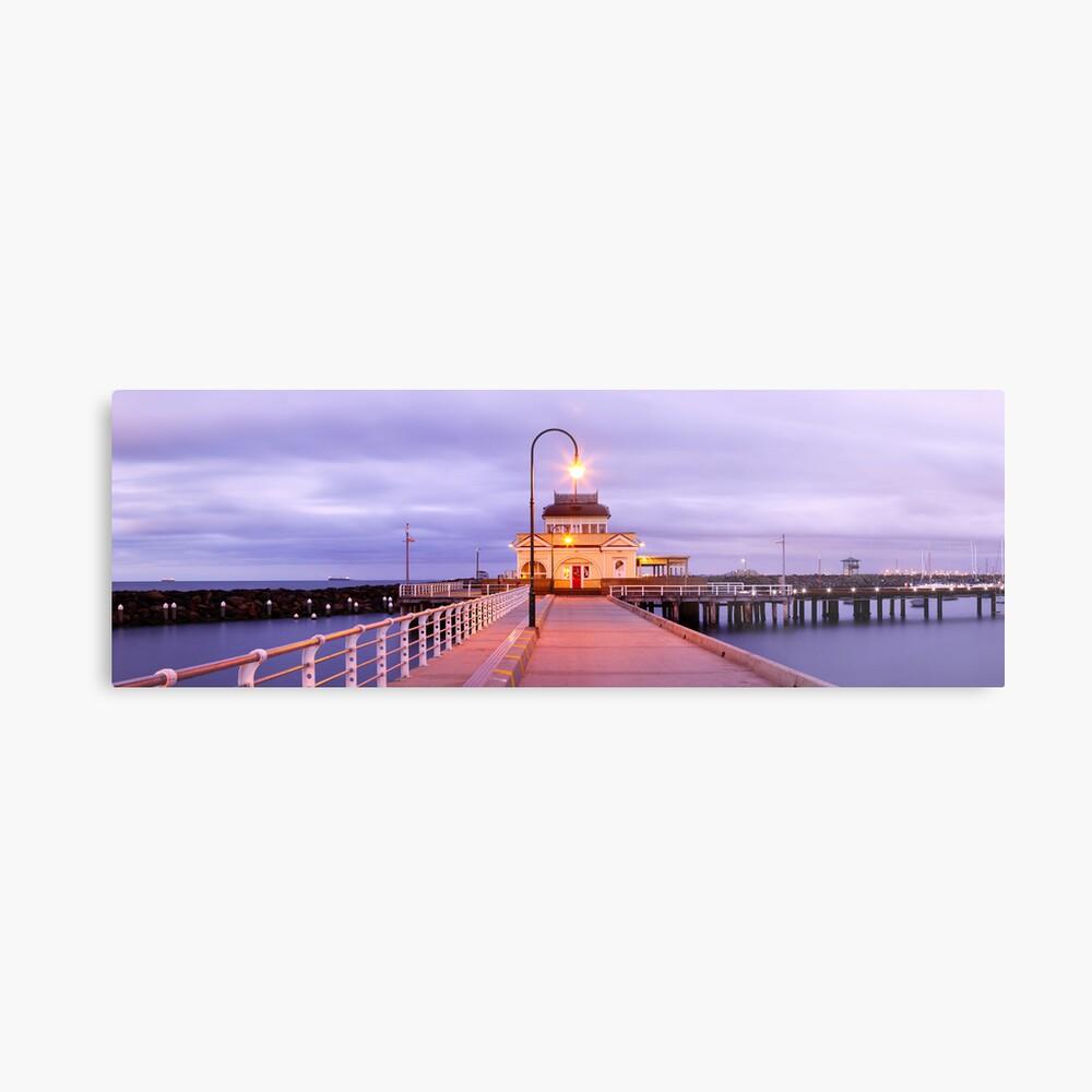 St. Kilda Pier, Melbourne, Victoria, Australia Metal Print