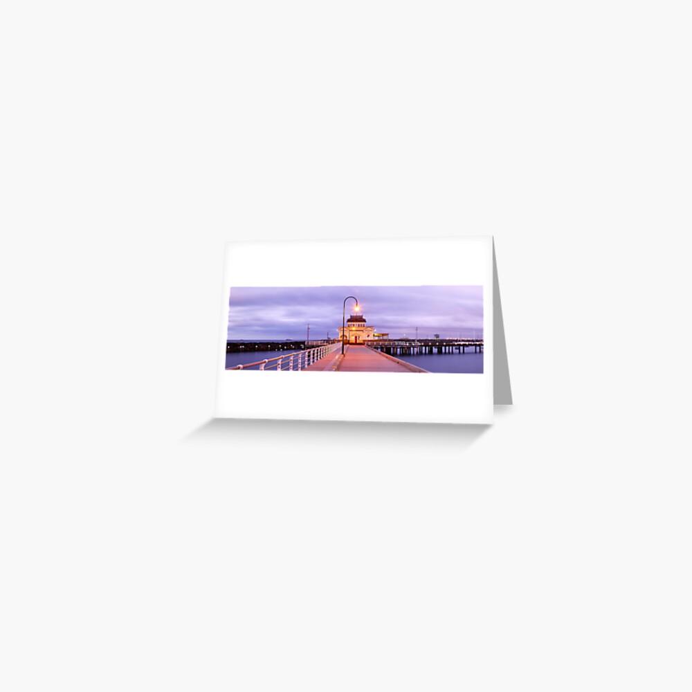 St. Kilda Pier, Melbourne, Victoria, Australia Greeting Card
