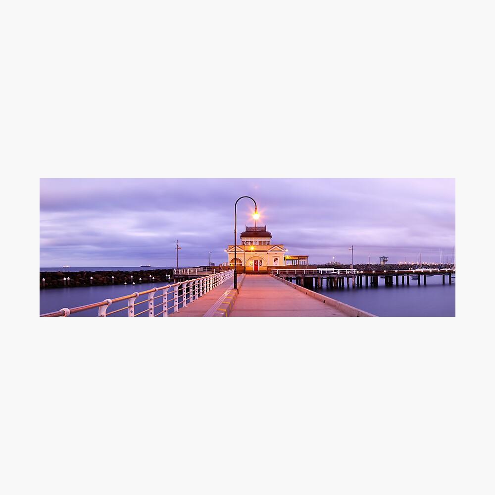 St. Kilda Pier, Melbourne, Victoria, Australia Photographic Print