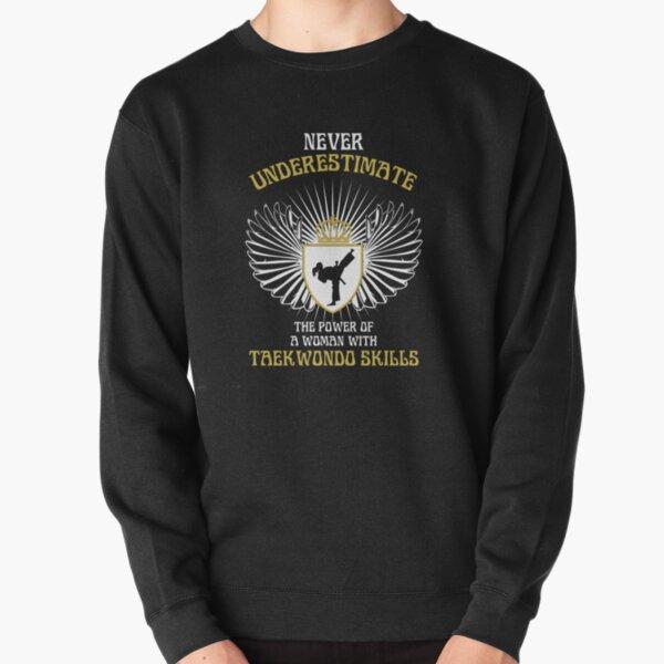 WOMAN WITH TAEKWONDO SKILLS Pullover Sweatshirt
