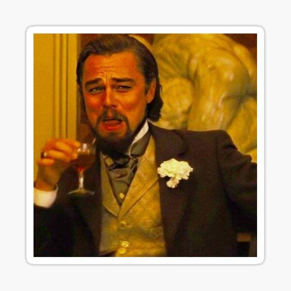 Leonardo DiCaprio Django Unchained Funny Meme Pegatina