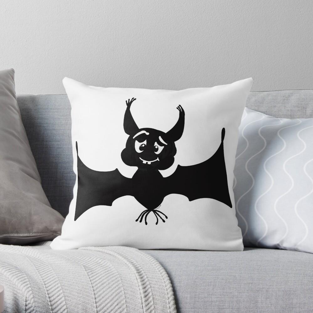 Billy the Halloween Bat Throw Pillow
