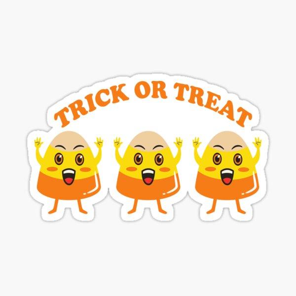 Candy Corn Trick or treat.- Halloween Sticker