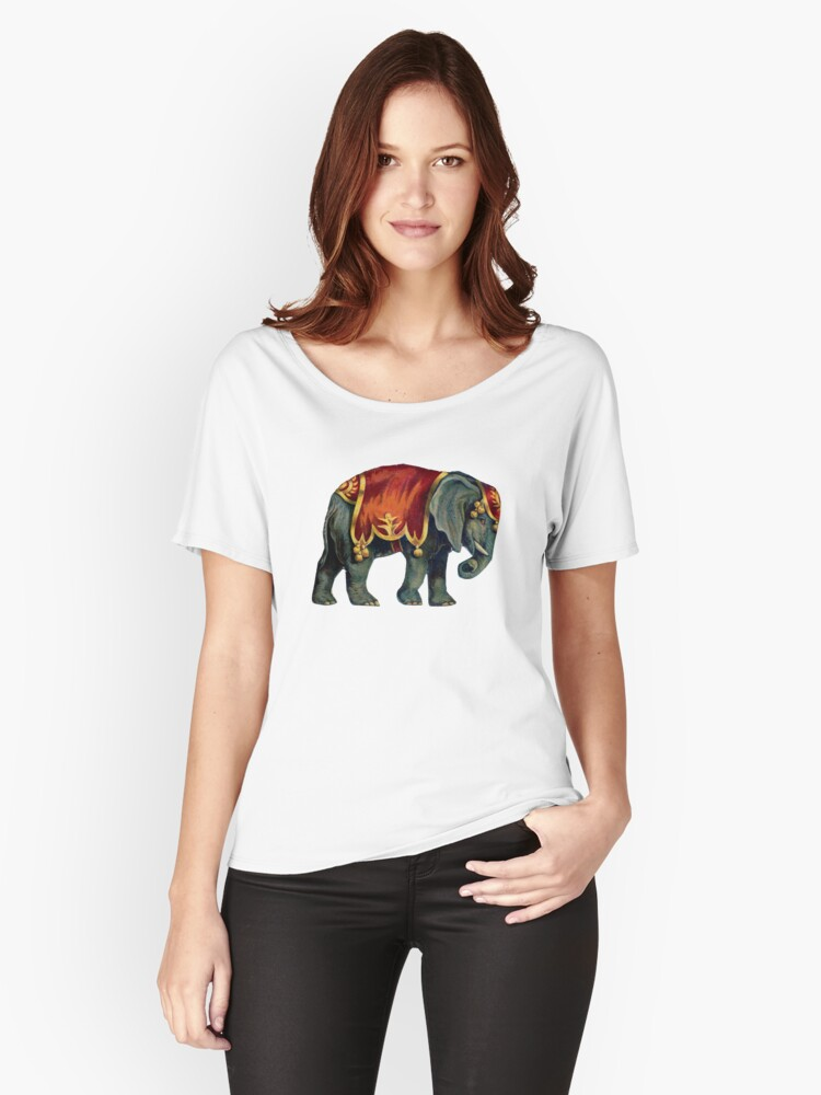 Vintage Circus Elephant Women's Relaxed Fit T-Shirt Front
