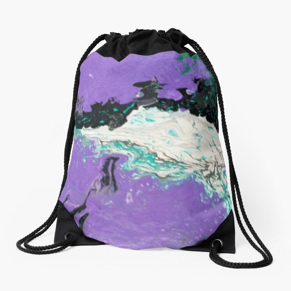 "Abstract Painting-""Mardi Gras"" Drawstring Bag"