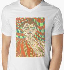 Psychedelic Buddha Mens V-Neck T-Shirt
