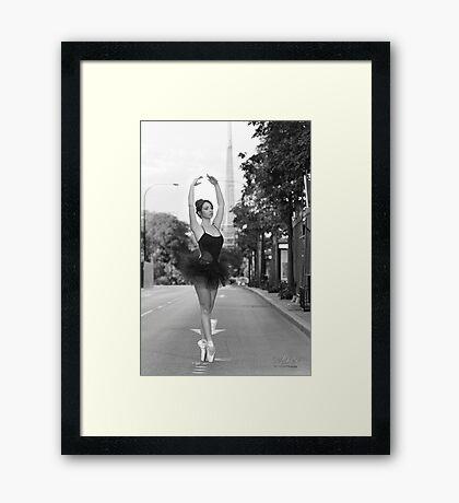 Street Ballerina  Framed Print