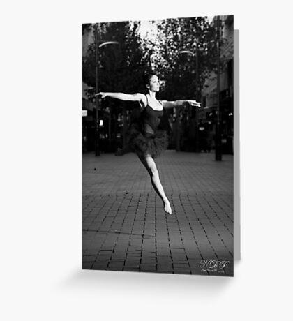 Street Ballerina 2 Greeting Card