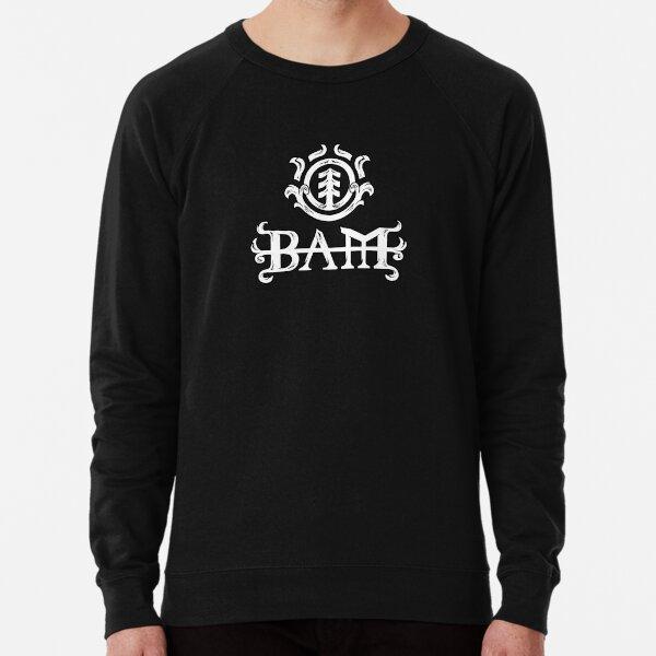 Bam! (White & Black) Lightweight Sweatshirt