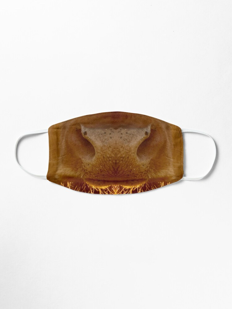 Alternate view of Guernsey Cow Face Covering Mask