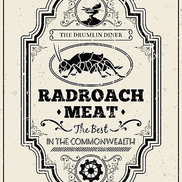 Drumlin Diner Radroach Meat (Black) by SOWSEEGG
