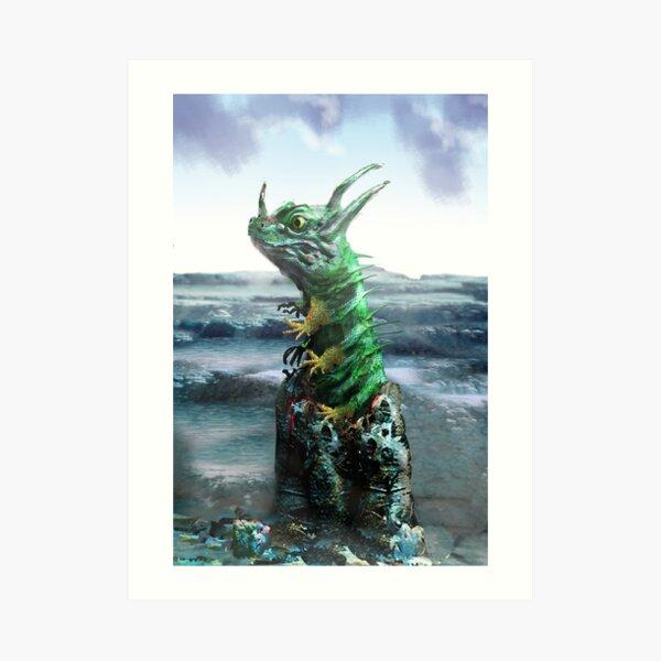 Birth of the Lizard King Art Print