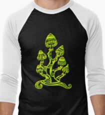 Magic mushrooms, Plants of the Gods, psychedelic, Trance Goa Psy  Men's Baseball ¾ T-Shirt
